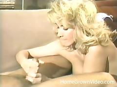 Gorgeous blonde jerks off her guy and gets fucked hard