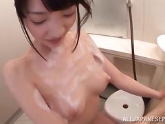 Bath, Asian, Bath, Couple, Fingering, Handjob