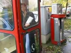 Phone Booth Handjob