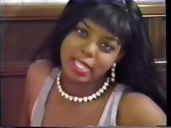 Beautiful ebony girl with pearl necklace nicely fucked