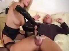 Gloves, Big Cock, Blonde, Gloves, Handjob, Latex