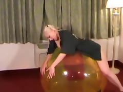 Galas Balloons - Gala get fucked on a 48 Beachball