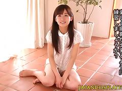 Squirting teen Rimu Sasahara facialized
