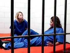 Lesbian jailbirds have some hardcore fun to pass the time