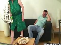 Smutty Mature Slut Gets Fucked and Covered In Cum By Her Son In Law