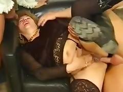 Granny Orgy, Anal, Banging, BBW, Chubby, Chunky