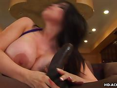 sexy israeli brunette milf sucks a black cock