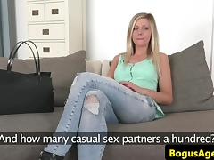 Euro casting with bigtitted babe pussyfucked