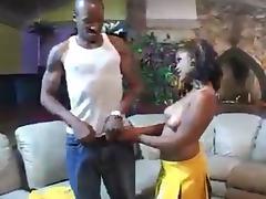 Cheerleader, Black, Cheerleader, Ebony, Tits