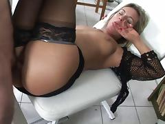 Dr treats horny pussy with a shave and hard cock