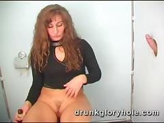 Her dirty secret is that she loves to fuck and suck at gloryholes