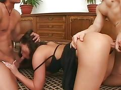 Brunette Jenna Red -Double anal