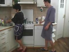 Older, Aged, Fucking, Horny, Kitchen, Mature