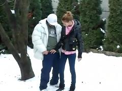 I receive a creampie in my huge amateur dick video