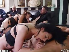 British MILF Fucked in Front of a Room of Men