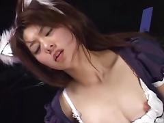CFNM fun with a cosplaying Japanese slut who likes it dirty