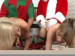 Kacey Jordan, Nicole Ray, Ramon Nomar, Jordan Ash in Deck the balls Video