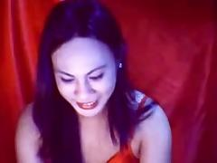 Webcam ladyboy jerks off and cums