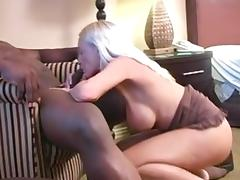 Mature blonde creampied by BBC