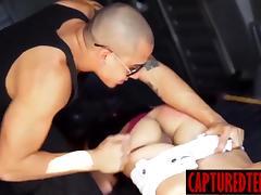 Young Sophia gets taken for deepthroat bj and bondage sex
