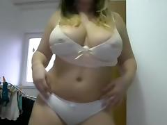 BBW, BBW, Big Tits, Solo, Strip, Webcam