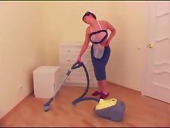 Seductive housewife enjoys a hardcore doggy style penetration