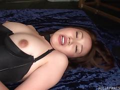 In the dungeon Japanese hottie takes charge and gets on top