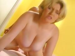 Busty blonde Sharana fuck