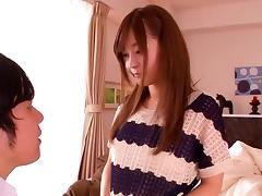 Rina Ishihara keeps her sweater on when she gets laid