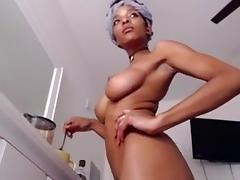 Hairy Ebony, Big Tits, Black, Ebony, Hairy, Masturbation