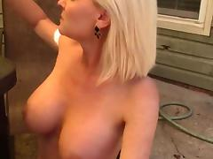 Smoking blonde fuck