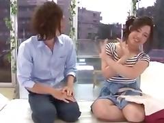Japanese slut screws with a horny bloke