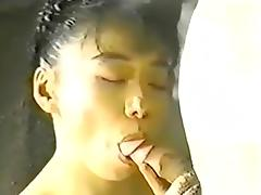 Asian girl sucks cock and fucks
