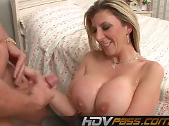 Horny Cock Sucking MILF Doing Her Job Perfectly
