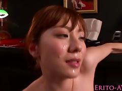 Asian squirting with facialized Yuma Asami