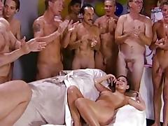 Girls, into gangbang & cum swallowing 8