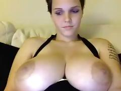 BBW, BBW, Big Tits, Brunette, Masturbation, Solo