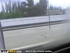 Train, Fingering, Fucking, Small Tits, Train
