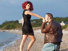 Wolf Hudson & Sunday Valentina in My Dad's TS Girlfriend Video