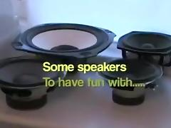 hawt speakers and subwoofers make me cum another time