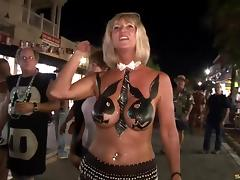 Mardi Gras, Big Tits, Exhibitionists, Flashing, Outdoor, Party