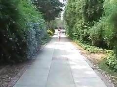 random outdoors deepthroating strangers