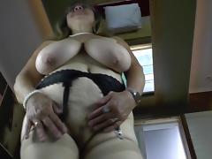 Kinky grandma with very big saggy boobs