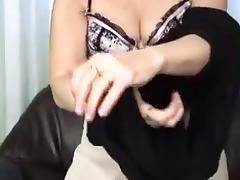 Mature slut fucks a cock, and a dildo.
