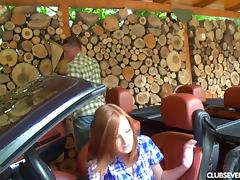 After her driving lesson this redhead gets fucked by her teacher