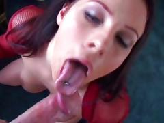 Deep in her mouth