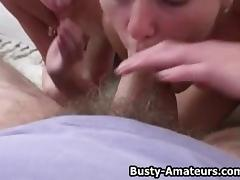 Busty Sunny and Holly on Blowjob