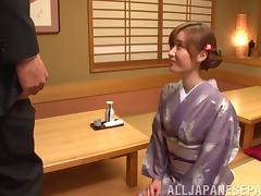 Dirty Japanese girl bends him over and eats his asshole