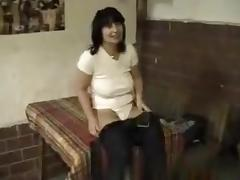 Bulgarian milf has a threesome with 2 guys on the kitchen table