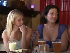 Blonde girl has an affair with an older lesbian woman